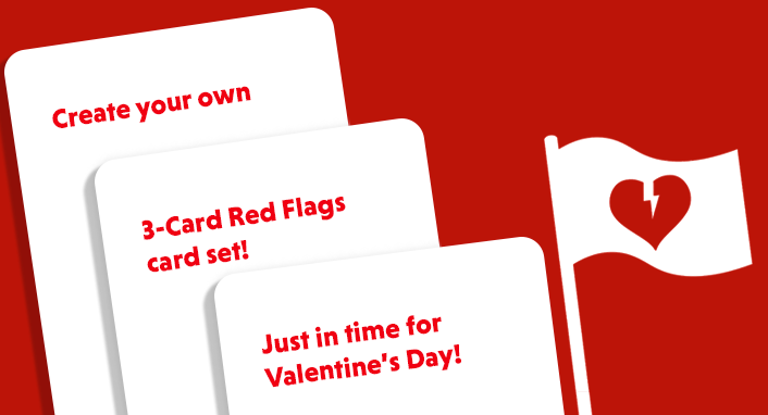 Customize Red Flags for Valentines Day Skybound – Create Your Own Valentines Card